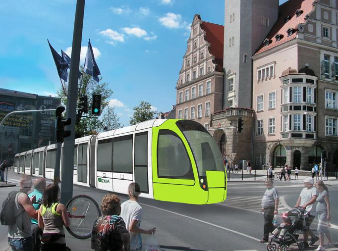 tramwaj, ratusz, Olsztyn