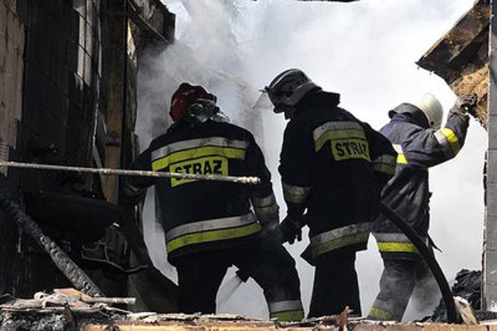 strażacy w akcji