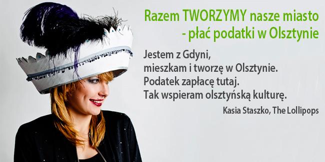 Plakat akcji Płać podatki w Olsztynie