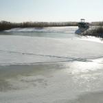 Zalew Wiślany skuty lodem