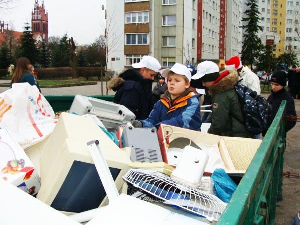 zbiórka elektrośmieci, fot. M. Stankiewicz