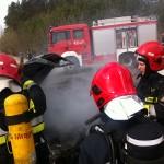 Auto zapaliło się podczas jazdy