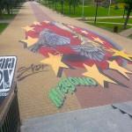 Trójwymiarowe malowidło w Mrągowie