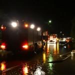 Strażacy walczyli ze skutkami burz. Synoptycy ostrzegają, dzisiaj też będzie mocno padać