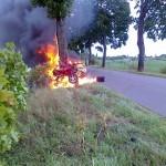 21-latek spłonął w samochodzie
