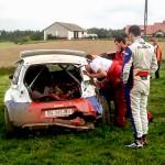 Kubica rozbił się na testach przed Rajdem Polski