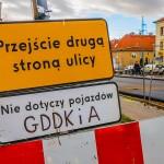 Na 5 dni zamknęli skrzyżowanie na Warszawskiej w Olsztynie