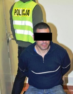 Jeden z podejrzanych o gwałt i stalking. Fot. KWP