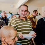 Spotkanie wigilijne w schronisku dla bezdomnych