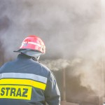 Nocny pożar w Wołownie