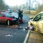 Wypadki i utrudnienia na drogach