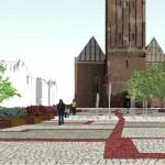 Nowe pomysły na skwer przed katedrą w Elblągu