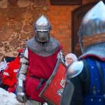 Rycerze opanują zamek w Nidzicy