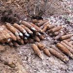 Podczas wycinki drzew znaleziono pociski artyleryjskie