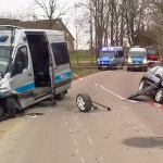 Niebezpieczne wypadki na drogach powiatu olsztyńskiego