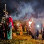 Blisko 100 aktorów-amatorów zagrało w Misterium Męki Pańskiej w Budzewie