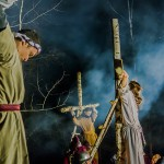 Kilkaset osób obejrzało plenerowe Misterium Męki Pańskiej w Budzewie na Mazurach