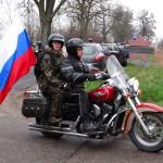 Rosyjscy motocykliści oddali w Braniewie hołd czerwonoarmistom