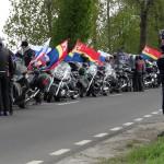 Motocykliści oddali w Braniewie hołd czerwonoarmistom