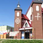 Spór o wyborczy banner przed kościołem