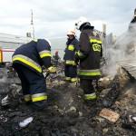 Pożar w stolarni w Samławkach