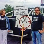 Przeciwnicy farm wiatrowych protestowali w Warszawie