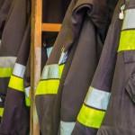 Pożar bloku w Ostródzie