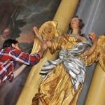 Konserwacji zostaną poddane rzeźby aniołów z kościoła w Bisztynku