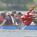 Smocze łodzie na wodach rzeki Elbląg