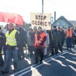 Mieszkańcy Korsz połączyli świętowanie z manifestacją