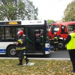 Zderzenie autobusu MPK z ciężarówką