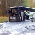 Pożar wycieczkowego autobusu