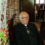 Członkowie Zakonu Krzyżackiego na zamku w Rynie
