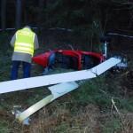Wypadek wiatrakowca w powiecie ełckim. Pilot w szpitalu