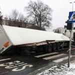 Trasa z Elbląga do przejścia w Grzechotkach była zablokowana 7 godzin