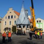 Ratusz w Barczewie stracił wieżę