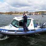 W Olsztynie zwodowano hybrydową łódź policyjną