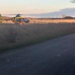 Wypadek na drodze z Olsztynka do Biesala