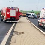 Karambol na obwodnicy Olsztyna. Jedna osoba trafiła do szpitala