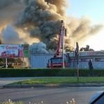 Pożar supermarketu w Lidzbarku Warmińskim