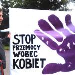 Protest przeciwko przemocy wobec kobiet