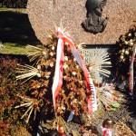 Wyschnięte wiązanki szpecą pomnik Powstańców