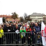 Protest w Olecku przeciwko ośrodkowi dla uchodźców