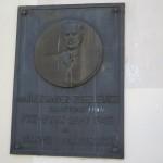 Olsztyn, tablica poświęcona Aleksandrowi Zubelewiczowi ( inicjator i założyciel oddziału Polskiego Towarzystwa Krajoznawczego). Fot Anna Minkiewicz-Zaremba