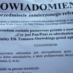 Referendum w gminie Ełk 8 maja