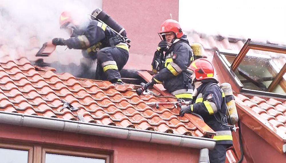 Pożar na ulicy Sadowej w Elblągu