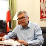 Marszałek Senatu z wizytą w Olsztynie. Stanisław Karczewski działania opozycji nazwał obstrukcyjnymi i nie służącymi polskiej demokracji