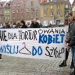 Protest partii Razem przeciwko nowej ustawie antyaborcyjnej