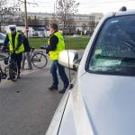 W Elblągu rowerzysta wjechał pod samochód