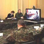 Wideokonferencja ministra obrony Afganistan-Elbląg